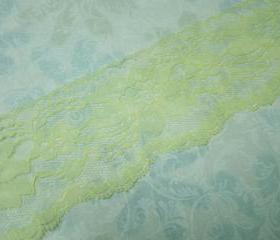 1 Yard of 3 inch Yellow Chantilly lace trim for spring, easter, bridal, baby, lingerie, hair accessories by MarlenesAttic - Item R6